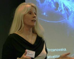 Joanna Chrzanowska presenting