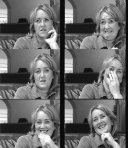 Micro expressions while watching a TV ad